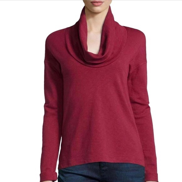 James Perse Sweaters - James Perse   Long Sleeve Cowl Funnel Neck Sweater